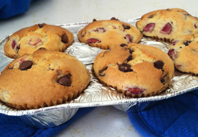 Muffin Cherries and Chocolate chip - International Cooking Blog