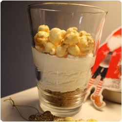 Gingerbread popcorn verrine - international cooking blog