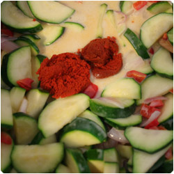 Curried Zucchini and Red Pepper Soup - International Cooking Blog