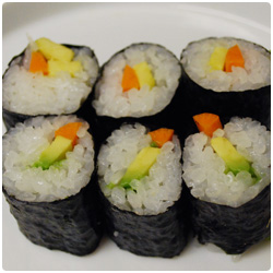 Avocado and Carrot Maki - International Cooking Blog