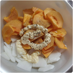Daikon Radish and Persimmon Salad - International Cooking Blog
