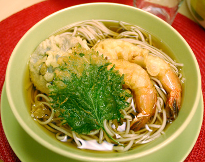 Soba noodles with tempura - The International Cooking Blog