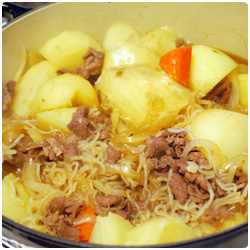 japanese Nikujaga stew meat with potatoes