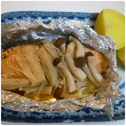 Steamed Salmon with Mushrooms - International Cooking Blog