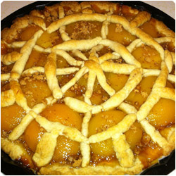 Peaches and Amaretti Pie - International Cooking blog