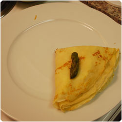 Ricotta and Asparagus Crepes - international cooking blog