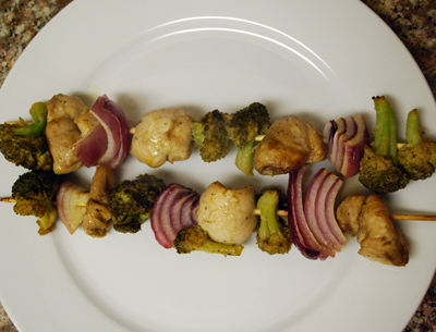 Chicken Skewers with broccoli - international cooking blog
