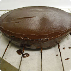 Chocolate Cake with Marzipan Decoration - International Cooking Blog