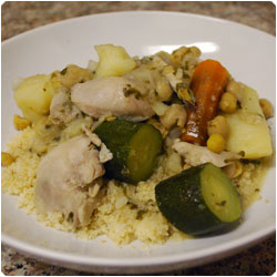 Vegetables and Boiled Chicken CousCous