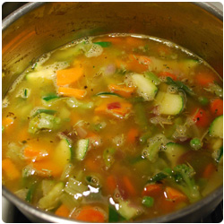 Minestrone with Short Pasta - The International Cooking Blog