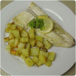 trout files with potato - International Cooking Blog