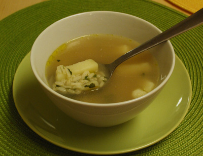 Parsely Rice Soup - The International Cooking Blog