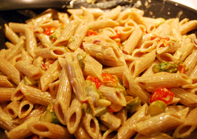 Pasta Asparagus and Tomatoes - The International Cooking Blog
