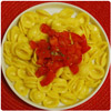Pasta with saffron and tomatoes