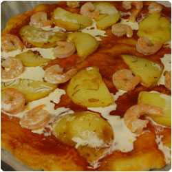 Shrimp and Potato Pizza - International Cooking blog