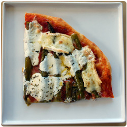 The International Cooking Blog - Pizza Asparagus and Brie