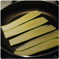 The International Cooking Blog - Pizza shallot and zucchini