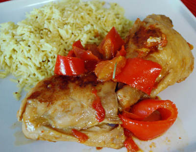Chicken Thighs with Bell Peppers - International Cooking Blog