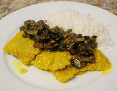 Scaloppini with Saffron and Mushroom - International Cooking Blog
