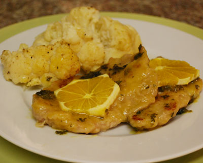 Orange sauce scaloppini - internatiolnal cooking blog