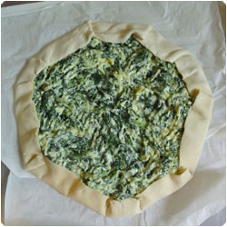 Spinach and ricotta pie - international cooking blog