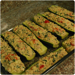 Tuna filled zucchini - International Cooking Blog
